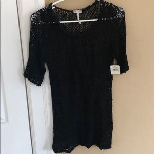 Free people intimates black crochet top